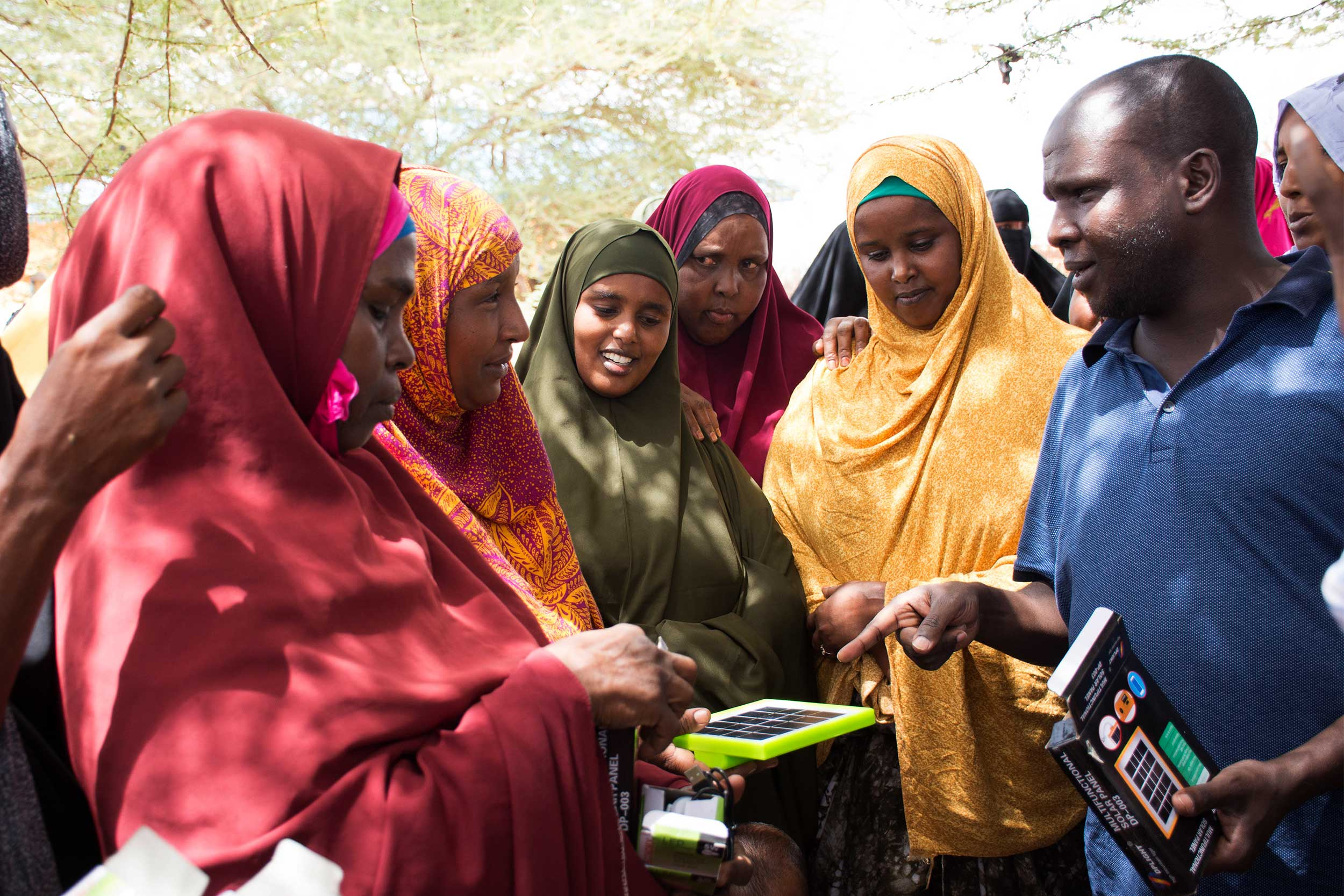 Abjata Khalif engaging with rehabilitated ex-conflict concubines in Bulla Game, Garissa County, Kenya. Photo courtesy of A. Khalif
