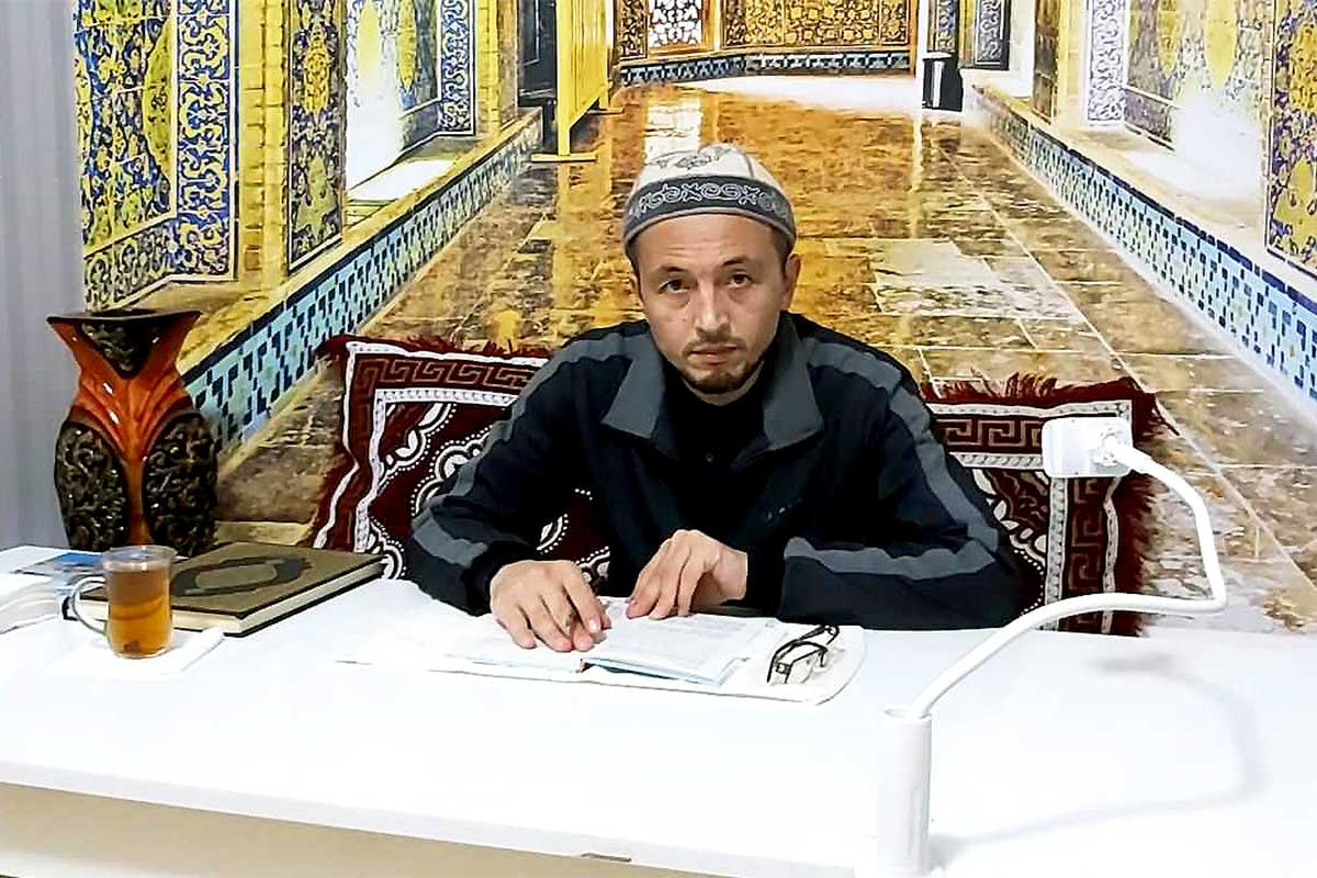 Yusufhon Zakaria, a 38-year-old Kyrgyz imam whose support for girls' education has earned him a huge following on Instagram and Youtube. (Photo courtesy of Y. Zakaria)