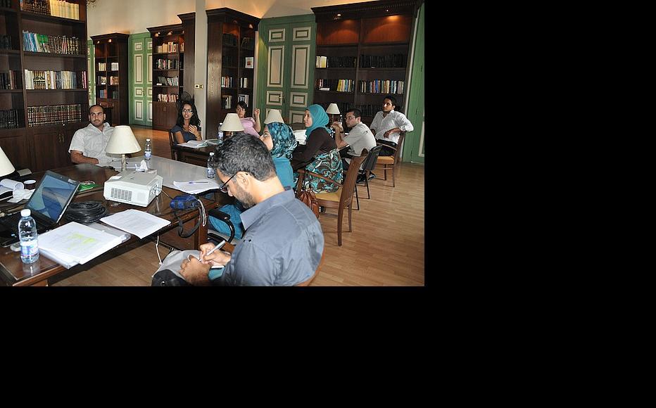 Basic journalism skills workshop in Tripoli. (Photo: Susanne Fischer)