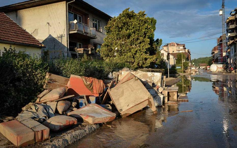 Doboj, a town in northern Bosnia, after the floodwaters receded. May 20-21, 2014.