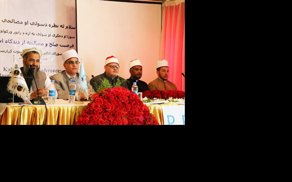 Halimi and four Egyptian scholars discussed the Islamic rules of war. (Photo: IWPR)