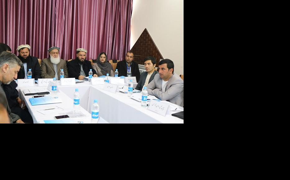 Afghan High Peace Council staff at an IWPR training event in Kabul. (Photo: IWPR)