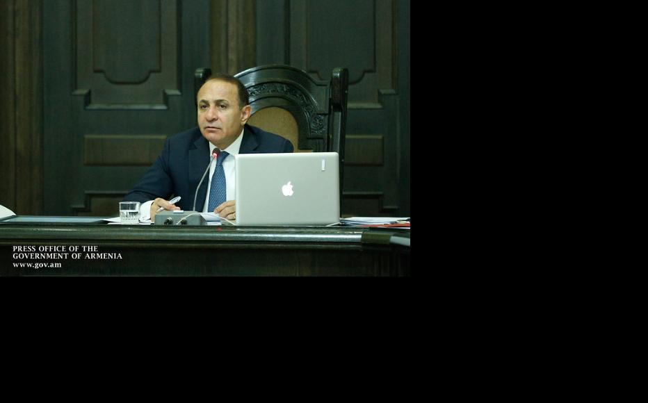 Armenian PM Hovik Abrahamyan. (Photo Courtesy of Press Office of Armenian Government)