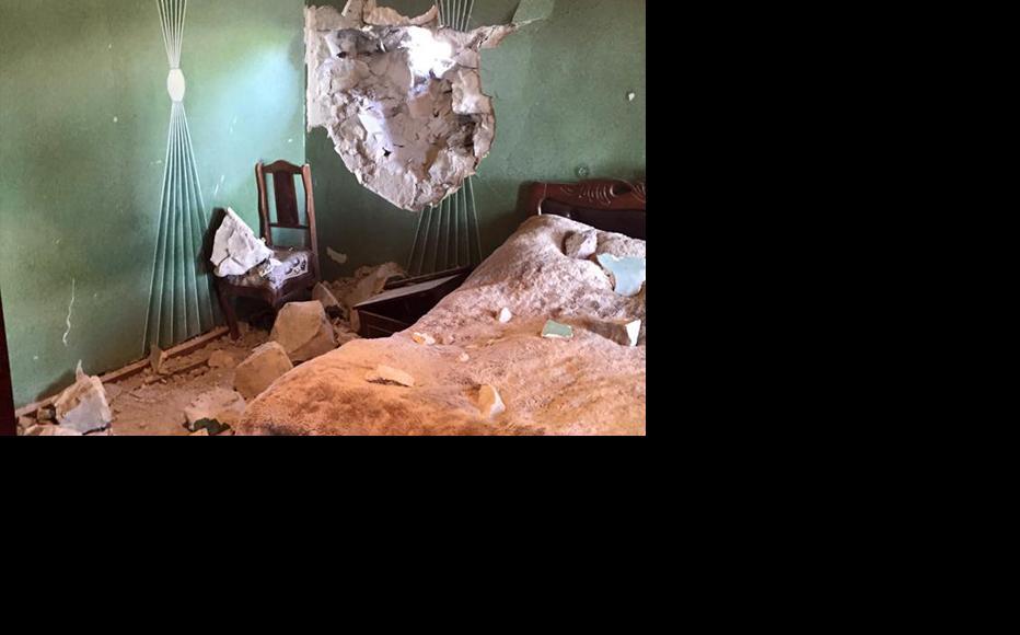 Shell damage to a house in the village of Sevqar in Armenia's Tavush region. September 4, 2015. (Photo:Arayik Harutyunyan)