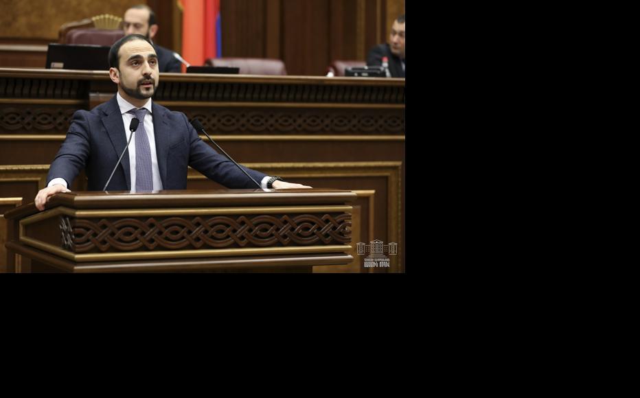 Tigran Avinyan, Deputy Prime Minister. (Photo: Parliament of Armenia)