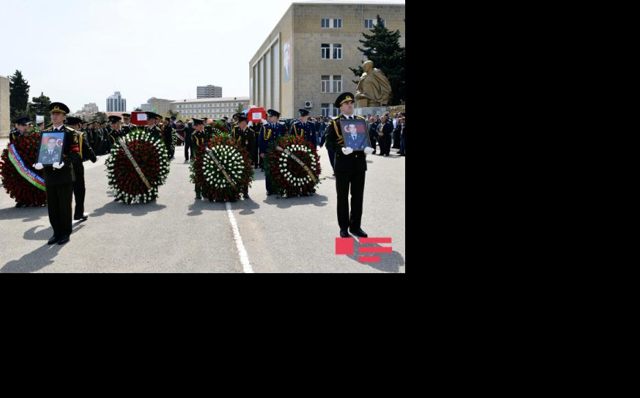 Funeral of Azerbaijani soldiers in Baku. (Photo: APA news agency)