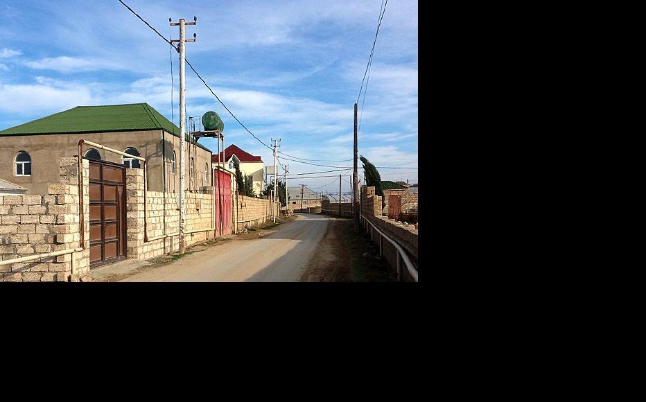Street in Shagan. (Photo: Aynur Elgunesh)