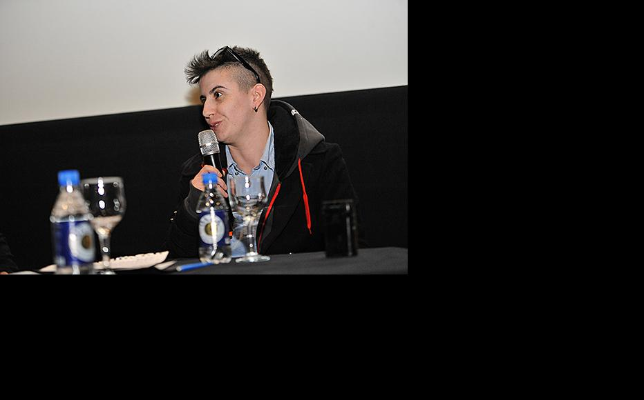 Film's director Ada Sokolovic, addressing the audience at the round table following the screening. (Photo: Eldar Spahic)