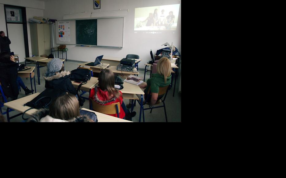Students at the Mustafa Novalic high school in Gradacac. (Photo: Maja Nikolic)