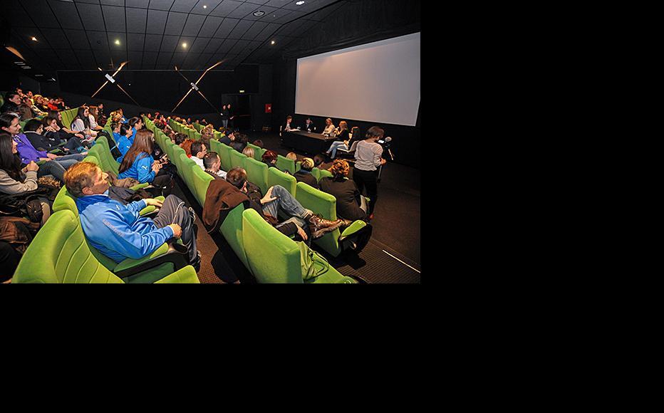"Screening of IWPR and Mebius film documentary ""I love SFK"" at Cinema City Sarajevo. (Photo: Eldar Spahic)"