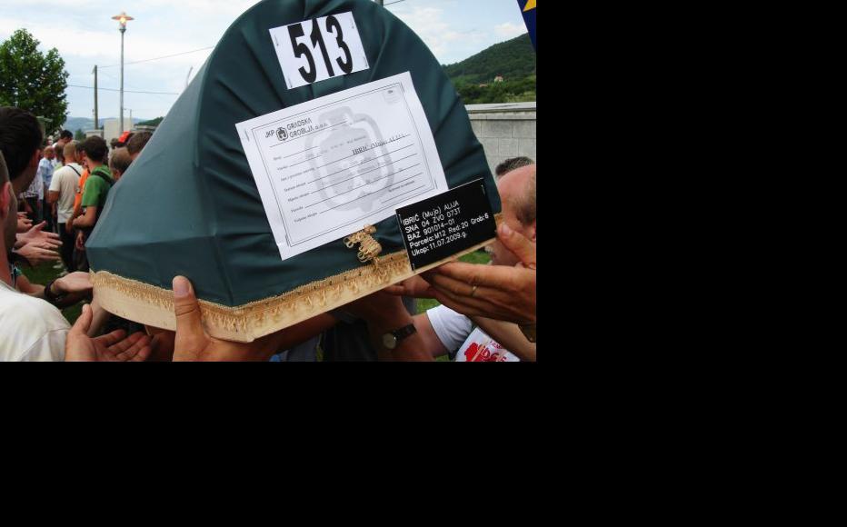 Burial of 520 recently-identified bodies at Srebrenica, July 11, 2012. (Photo: Caroline Hopper)
