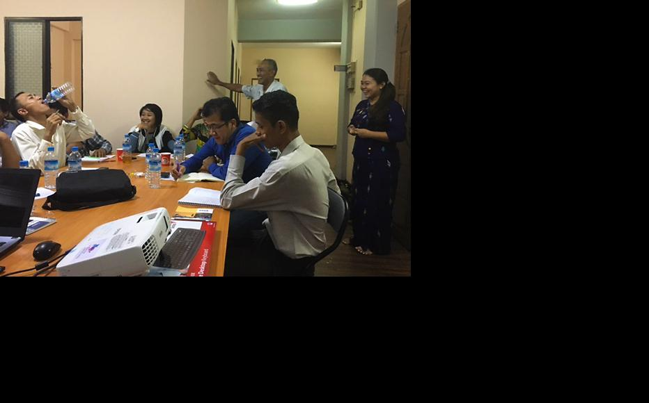 Training session for media monitors in Yangon. (Photo: Alan Davis)