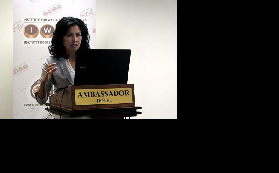 Elira Turdubaeva, one of the researchers from Kyrgyzstan. (Photo: IWPR)