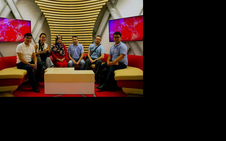 Tour of the Kyrgyz Public TV and Radio broadcasting corporation (KTRK). (Photo: CABAR)