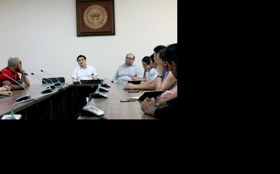 Visit to the office of NISI, National Institute of Strategic Studies under Kyrgyz government. (Photo: CABAR)