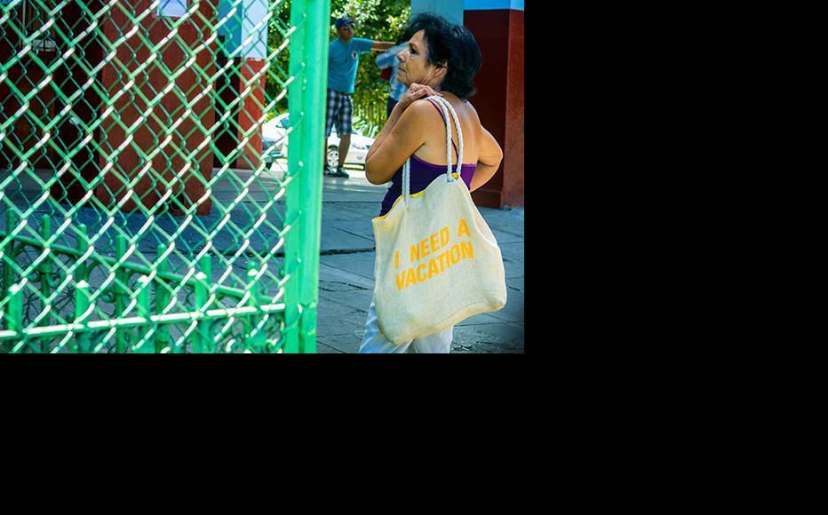 A lady getting into a local market in Santa Clara, Cuba. (Photo: Alejandro Trujillo)