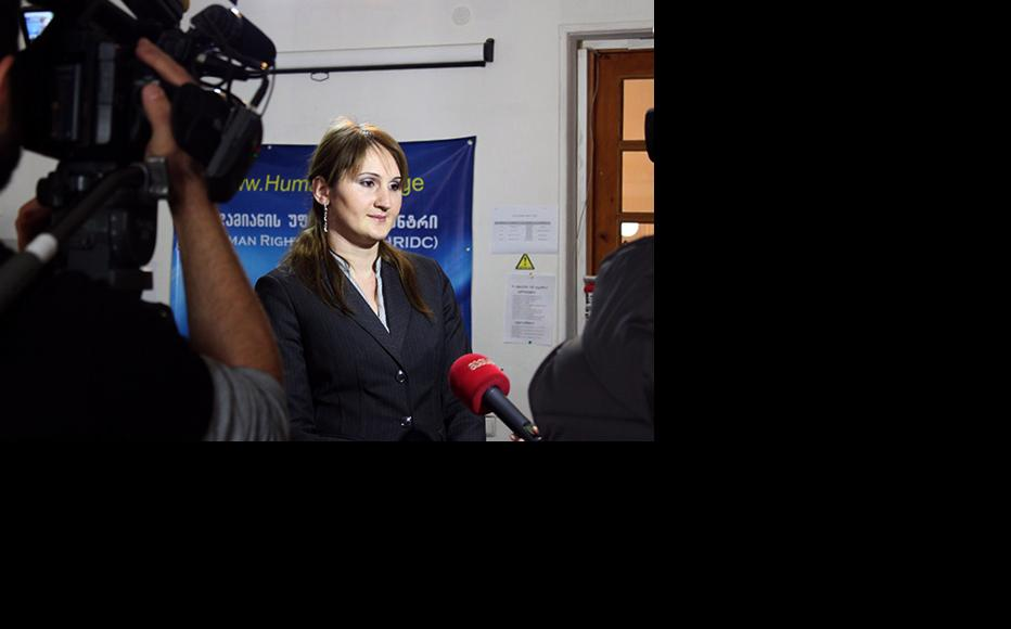 Lawyer Eka Kobesashvili. (Photo: Human Rights Centre, Georgia)