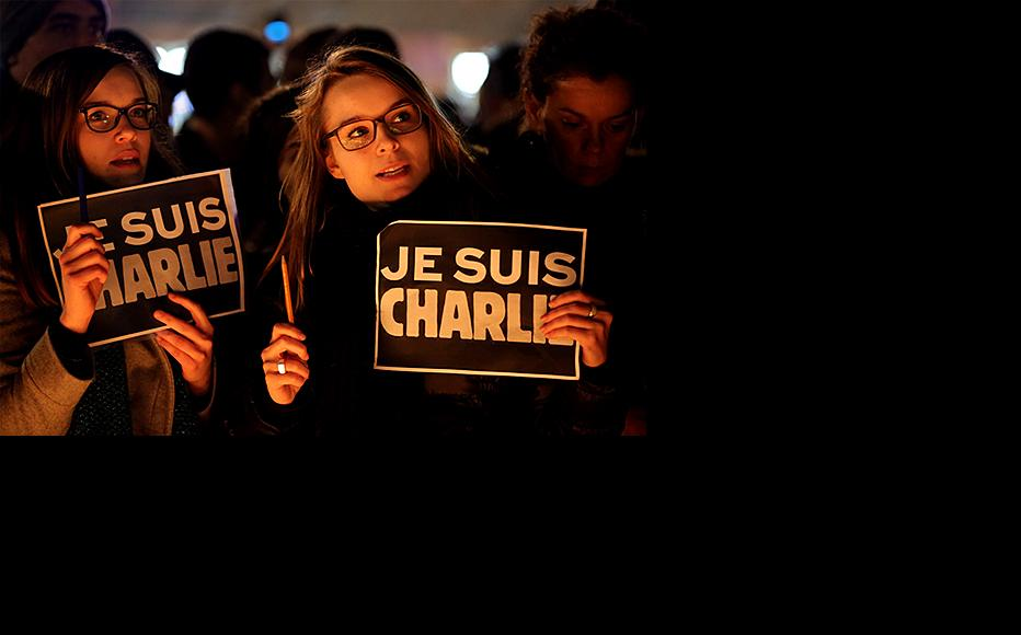 A vigil at Place de la Republique the victims of the January 7 attack on the Charlie Hebdo office in Paris. (Photo by Dan Kitwood/Getty Images)