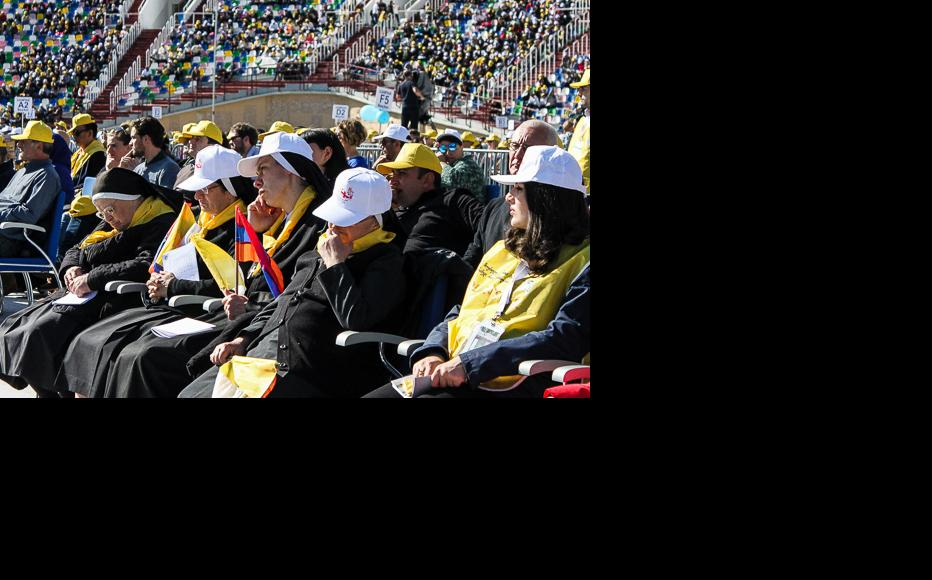 About 300 Catholics from Armenia attended Pope Francis' Holy Mass at the stadium. (Photo: Tamar Svanidze)