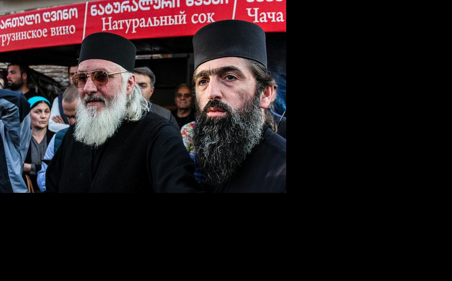 """Orthodox priests said that the visit was intended to spread """"papism"""". (Photo: Tamar Svanidze)"""