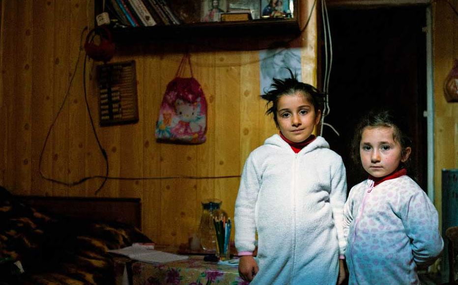 Beka, Lika and Reziko live with their mother in a 20 square-metre room.