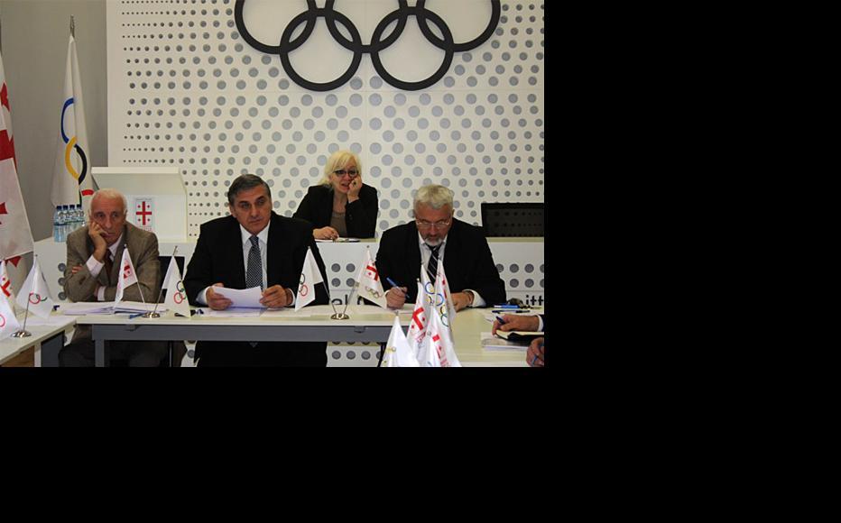 Executive council of the Georgian National Olympic Committee. (Photo: Georgian Olympic Committee)