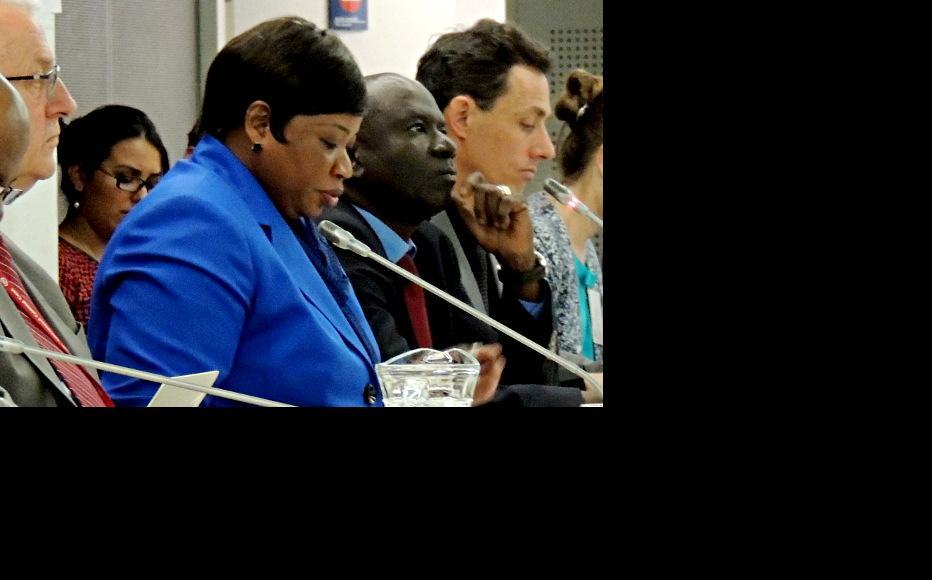 Deputy Prosecutor James Stewart, ICC Prosecutor Fatou Bensouda, Amady Ba and Emeric Rogier, of the Office of the Prosecutor (Photo: Coalition for the ICC, Flickr)