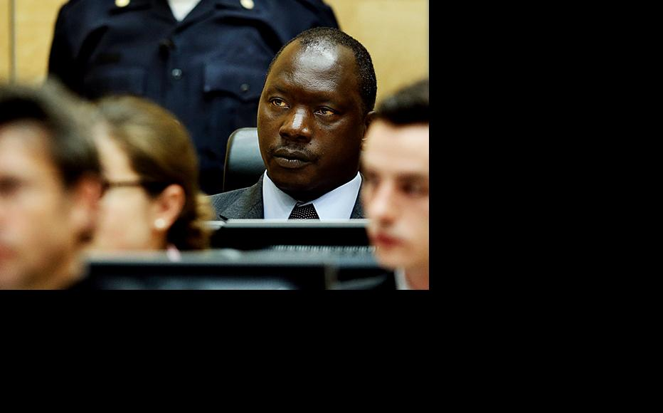 Thomas Lubanga Dyilo in the ICC courtroom for his sentencing hearing on 10-Jul-12. (Photo: ICC-CPI/Jerry Lampen/ANP)