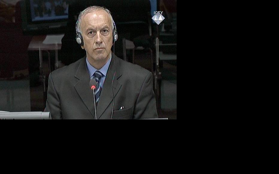 Zarko Stojkovic, defence witness in the Mladic trial at the ICTY. (Photo: ICTY)