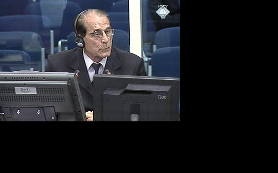 Bogdan Subotic, defence witness in the Hague trial of former Bosnian Serb leader Radovan Karadzic. (Photo: ICTY)
