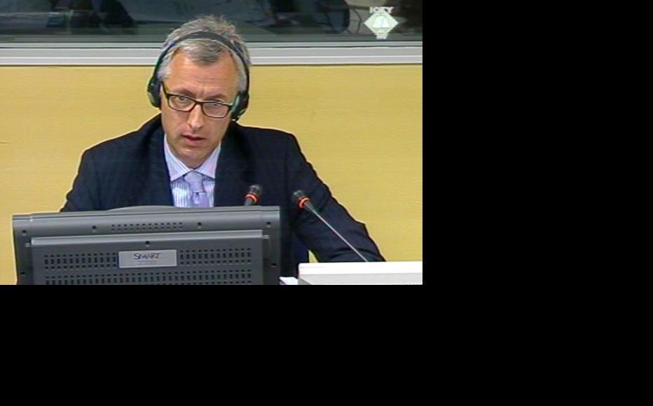 Reynaud Theunens, prosecution witness in the Mladic case. (Photo: ICTY)