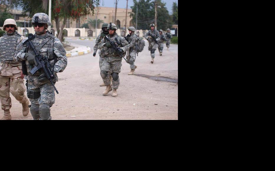 Adhamiya as it used to be: US troops on patrol in 2007. (Photo: Sgt. Jeffrey Alexander/www.army.mil)