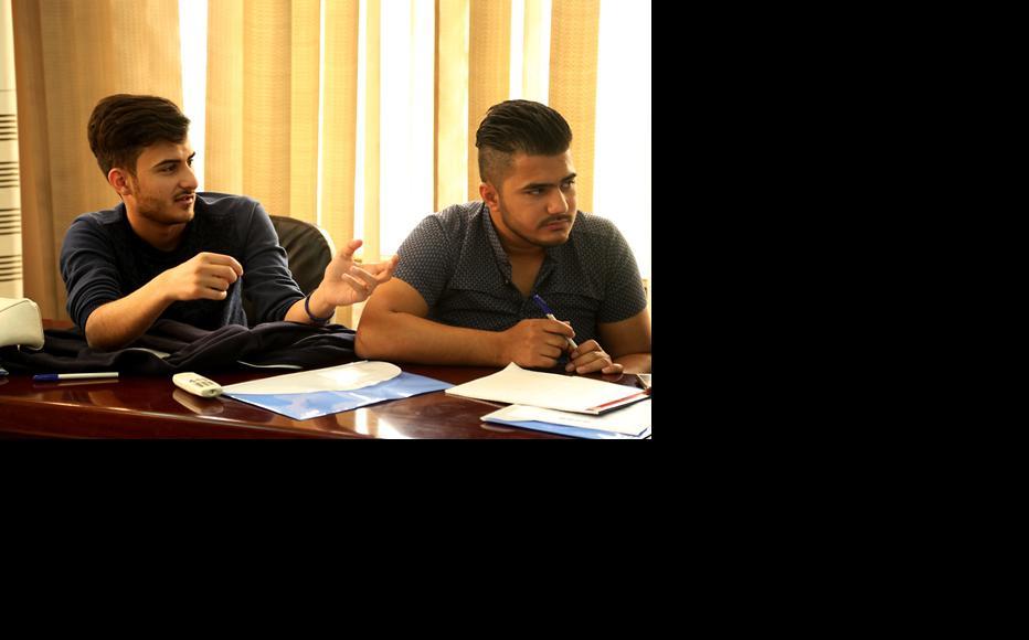 IWPR trainees at the Baghdad workshop. (Photo: IWPR)