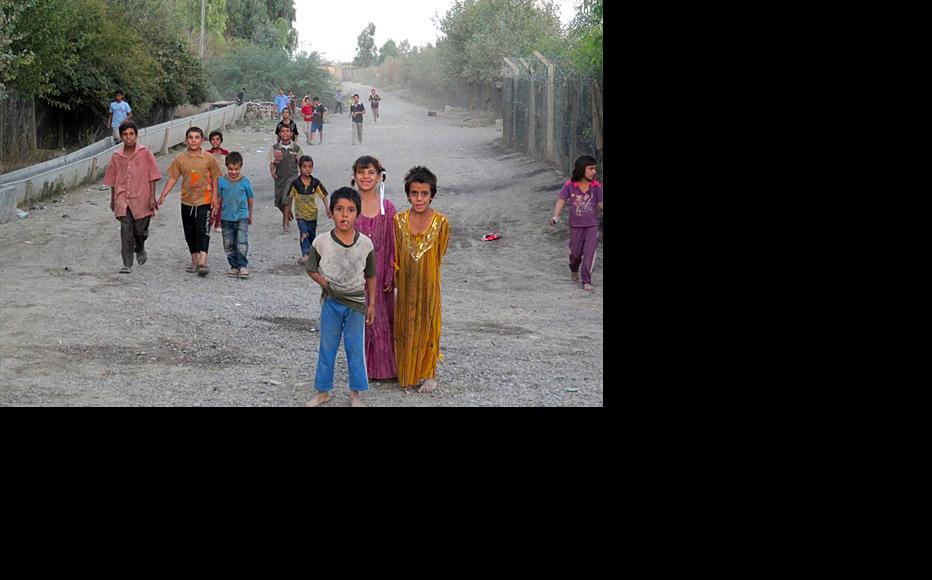 Children playing in Salahuddin province, where the low standard of living is a major cause of unhappiness with central government. (Photo: IWPR)
