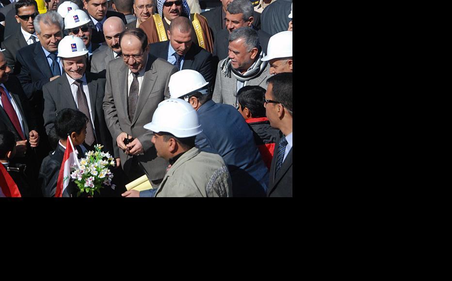 Iraqi prime minister Nuri al-Maliki inaugurates the five-terminal project. (Photo: Ali Sarhan)