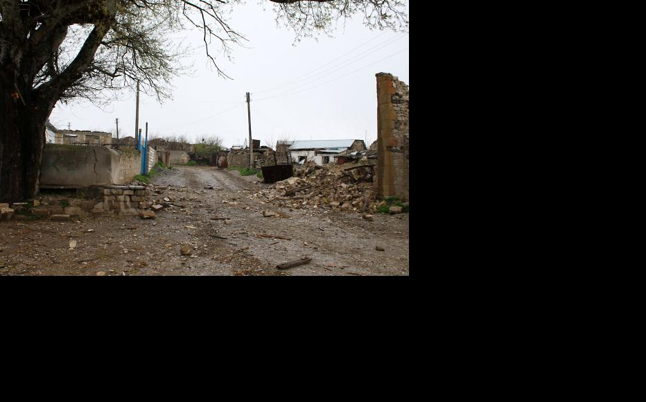 Talish village after occupation by Azerbaijani forces. The following day it was recaptured by the Karabakh military. (Photo: Photolure Agency)