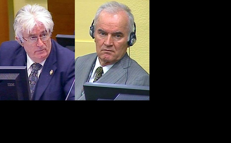 Radovan Karadzic and Ratko Mladic on trial at the ICTY. (Photo: ICTY)