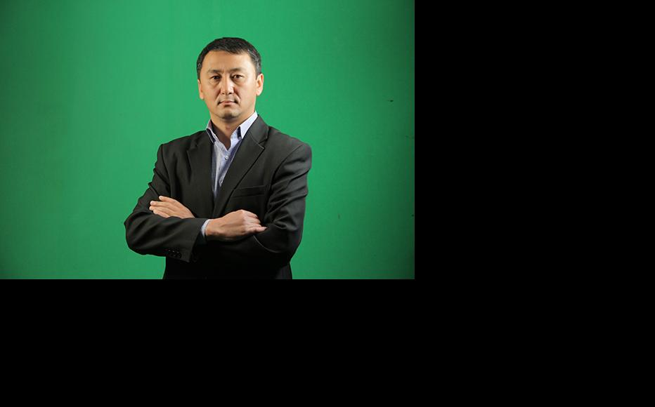 Joodar Saparbaev, head of Ayan TV channel. (Photo: Ayan TV)