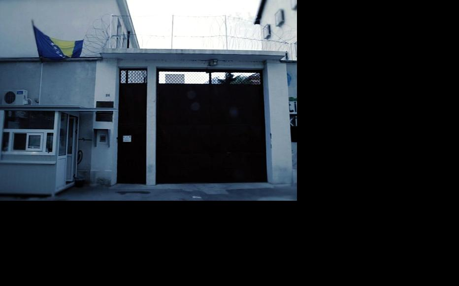 Entrance to the Mostar Prison. (Photo: IWPR)
