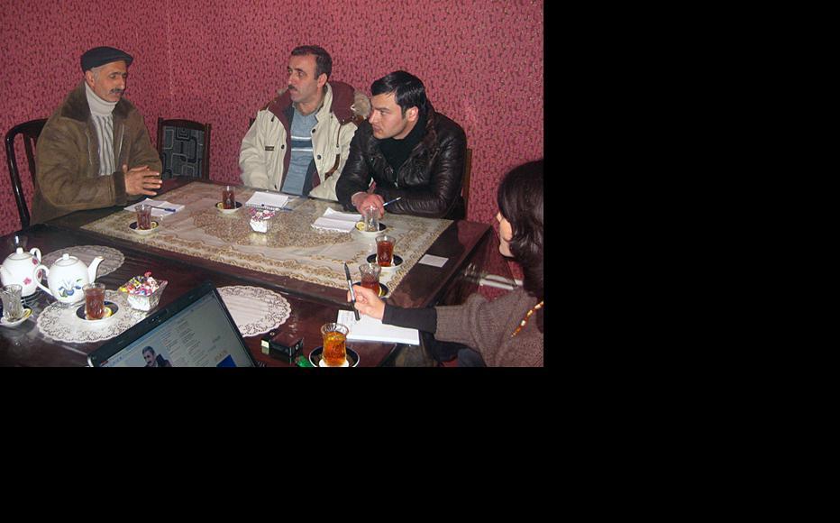 IWPR workshop in Khachmaz, a northern mountainous region adjoining Dagestan in Russia, December 2012. (Photo: IWPR)