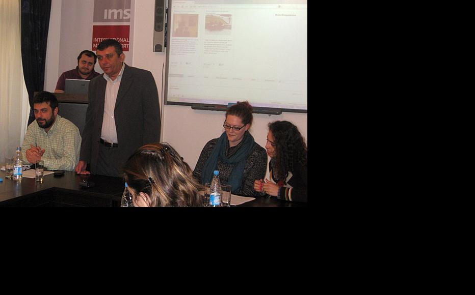 Launch of the civil society website, Baku, December 2011. (Photo: IWPR)