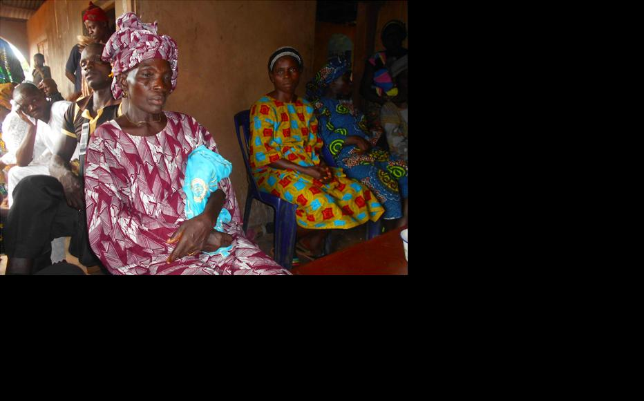 Mariam Popoola, 65, and other members of her community. (Photo: Hannah Ojo)