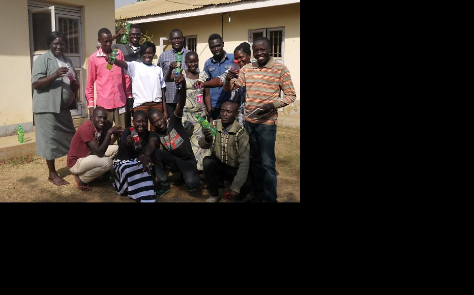 The team at Radio Easter in the South Sudanese town of Yei. (Photo: Ilona Eveleens)