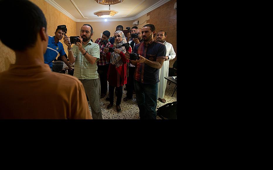 Photojournalism training for Germa news agency staff. (Photo: Small World News)