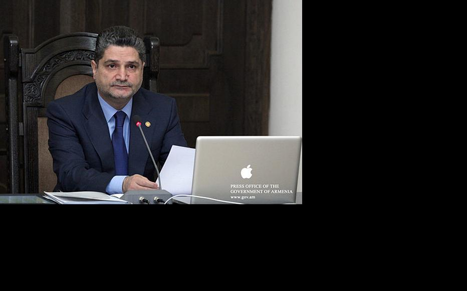 Armenian prime minister Tigran Sargsyan. (Photo: Armenian government press office)