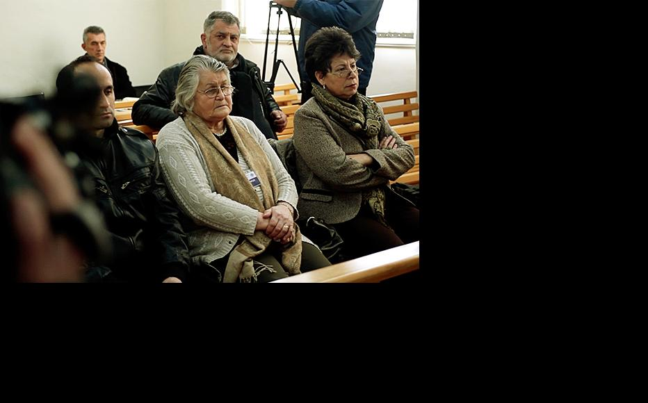 Courtroom in Trebinje during the trial of a man accused of raping protected witness Z.R. (Still from Unprotected, film by IWPR directed and shot by Mirko Pincelli/Pinch Media)