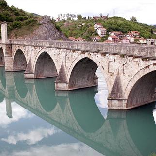 The 16th century Visegrad bridge, which has come to symbolise the horrors of the Bosnian war. (Photo: Branimir Prijak)