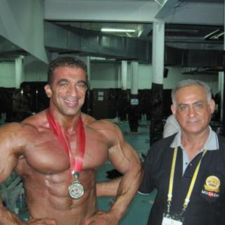 Ahmed Majeed, better known as Ahmed Rambo, is Kurdistan's most famous bodybuilder. (Photo by Ahmed Majeed)