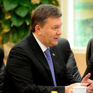 Ukrainian President Viktor Yanukovych during a visit to China in December 2013.
