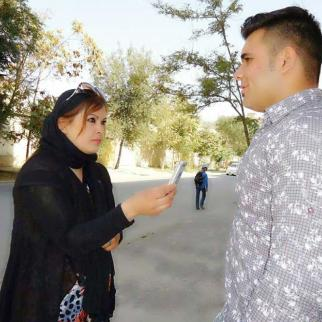 IWPR reporter Mina Habib.